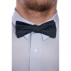 Papion Jack&Jones Logo Bow Tie Gri Inchis - Papion Barbati