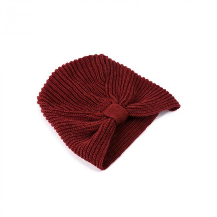Turban Dama Only Onlsino Knit Turban Syrah foto mare