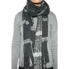 Fular Dama Only Onlmulit Knit Scarf Phantom, Culoare: Gri
