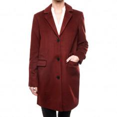 Palton Office Lana Vero Moda Lien Rich 3/4 Wool Fired Brick - Palton dama Vero Moda, Marime: XL, L, M, S, XS, Culoare: Visiniu