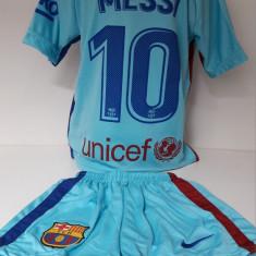 Echipament fotbal pentru copii FC.Barcelona Messi model nou, Marime: Alta