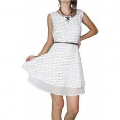 Rochie Vero Moda Plane Alb Negru - Rochie de zi Vero Moda, Marime: M, L, XL