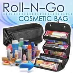 Roll-N-Go geanata-organizator pentru cosmetice make-up si accesorii