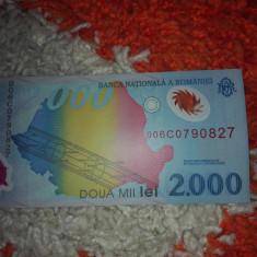 Bancnota eclipsa 2000 lei - Bancnota romaneasca