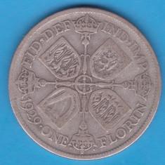 (1) MONEDA DIN ARGINT ANGLIA - 1 FLORIN 1929, Europa