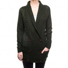 Cardigan Gros Dama Vila Jolly Knit Darkest Spruce - Pulover dama Vila, Marime: XS, S, M, L, XL, Culoare: Verde