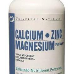 Calcium Zinc Magnesium 100 tabs UNCZM100 fara aroma 100 tablete