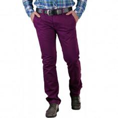Pantaloni Lungi Bumbac Selected Three Paris Mov - Pantaloni barbati, Marime: 29, 30, 31, 32, 33, 34