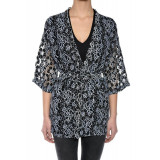 Kimono Scurt Vila Hime, L, M, S, XL, Negru