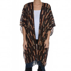 Poncho Subtire Vascoza Only Terry Long Weaved - Trench dama Only, Culoare: Multicolor