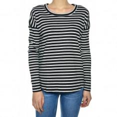Bluza Bumbac Only Wilson O-neck Black Stripes - Bluza dama Only, Marime: S, Culoare: Bleumarin