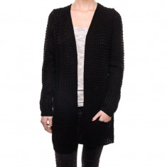 Cardigan Gros Fara Nasturi Vero Moda Cozy Copenhagen Nice Negru - Pulover dama Vero Moda, Marime: XS, S, M, L, XL