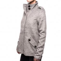 Palton Bumbac Cu Guler Vero Moda Flare - Palton dama Vero Moda, Marime: XL, L, M, S, XS, Culoare: Gri