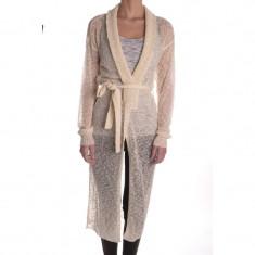 Cardigan Lung Vero Moda Tampie Extra Long - Pulover dama Vero Moda, Marime: M, Culoare: Alb, Acril