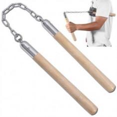 Nunchaku de lemn cu lant - Karate