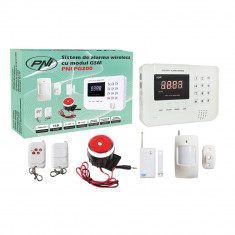 Aproape nou: Sistem de alarma wireless PNI PG200 comunicator GSM/PTSN pentru 99 de - Sisteme de alarma
