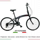 """Bicicleta pliabila roti 24"""" - 7 viteze Shimano-made in Italy, 17.5 inch, Numar viteze: 7"""