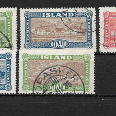 Islanda 1925, Stampilat