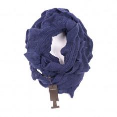 Fular Dama Pieces Kristian Tube Scarf, Culoare: Bleumarin