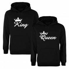 Set de hanorace pentru cupluri Crown King/Queen COD SH107 - Tricou dama