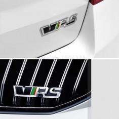 Set embleme metalice VRS auto Skoda rs pentru grila si portbagaj 2 bucati - Embleme auto