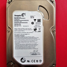 HDD 500GB sata / Hard disk 3.5 inch SATA 500 GB SEAGATE ST3500410SV, 64MB Cache, 500-999 GB, Rotatii: 7200