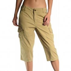 Pantaloni Scurti Bumbac Vero Moda 3/4 Free Cargo Camel - Pantaloni dama Vero Moda, Culoare: Bej