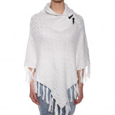 Poncho Impuls Naliana Cloud Dancer - Trench dama, Culoare: Alb