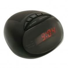 Radio ceas cu alarma CR-316P, 3 W, Negru - Radio cu ceas