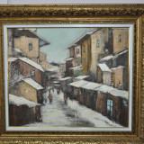 PICTURA,Teodor VESCU -Iarna,70x80/cu rama,Stare PERFECTA