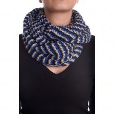 Fular Dama Pieces Doretta Scarf, Culoare: Albastru