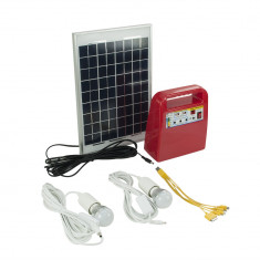 Resigilat : Panou solar fotovoltaic PNI SUN02 Rosu kit cu acumulator 12V, USB/Radi