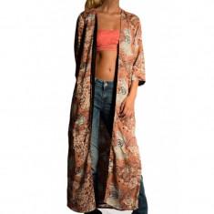 Kimono Lung Vascoza Vero Moda Super Easy 3/4 Long Salmon Rose