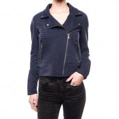 Jacheta Bumbac Vero Moda Nicoline Biker Sweat Navy Blazer - Jacheta dama Vero Moda, Marime: XS, S, M, L, XL, Culoare: Bleumarin