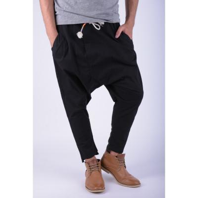 Pantaloni Bumbac Tur Lasat Alcott Sigfrido Carrot Negru foto