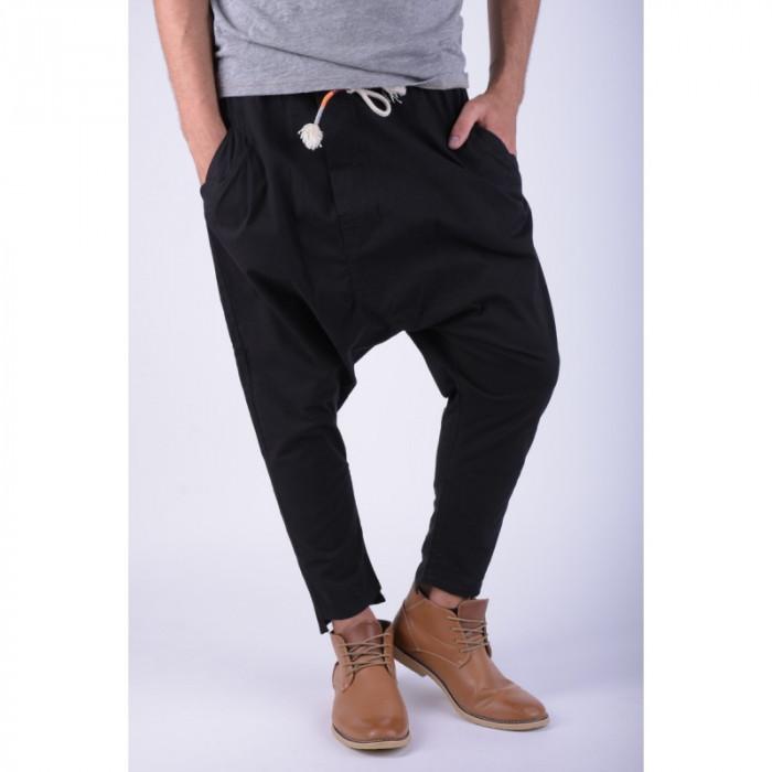 Pantaloni Bumbac Tur Lasat Alcott Sigfrido Carrot Negru foto mare