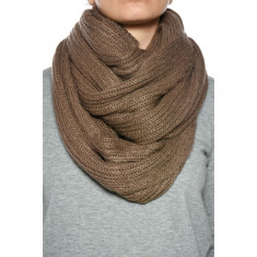 Fular Dama Only Onlsika Knit Tube Scarf Deep Taupe