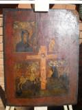 "Icoana ruseasca anii 1830 / Icoana pictata pe lemn "" RASTIGNIREA"", 4 registre"
