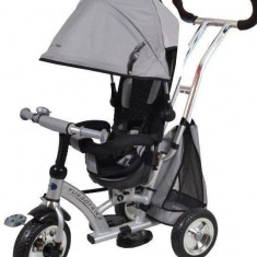 Tricicleta cu sezut reversibil Sunrise Turbo Trike Silver - Tricicleta copii Baby Mix