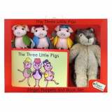 Resigilat - Set Papusi De Mana Cei Trei Purcelusi - The Puppet Company