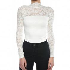 Body Vascoza Vero Moda Laky Lace Alb Unt - Bluza dama Vero Moda, Marime: XS, S, M