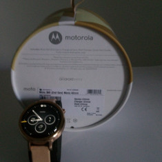 Ceas Smartwatch Motorola Moto 360 2nd gen, Rose Gold, 42mm