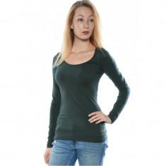 Bluza Dama Vila Officiel O-neck Darkest Spruce, Marime: M/L, L/XL, XS/S, S/M, Culoare: Verde