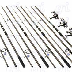 Set Crap 4 lansete FINO CARP 3,9 m cu 4 mulinete EASTSHARK SW60 cu 10 rulmenti