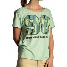 Tricou Dama Vero Moda Milie Art Aqua Foam / Green Blue