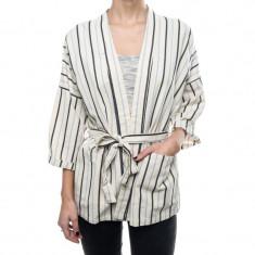Kimono Scurt Dama Vila Winther Check Cabernet Pristine Total Eclipse - Pulover dama Vila, Marime: S, M, L, XL, Culoare: Alb