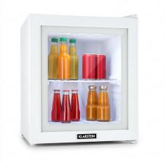 KLARSTEIN SHOWROOM, mini-bar, mini frigider, ușă de sticlă, 36 L, clasa energetică A ++, alb