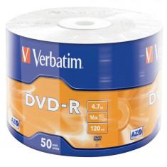 Verbatim DVD-R 16x, 4.7 GB, 50 bucati - CD Writer PC