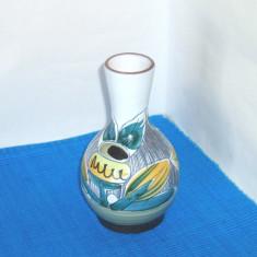 Vaza gresie cloisonne, vintage, hand made - design Mona Elmang, NILA Keramik - Arta Ceramica