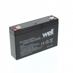 WELL Acumulator plumb acid 6V 7AH, Well - UPS